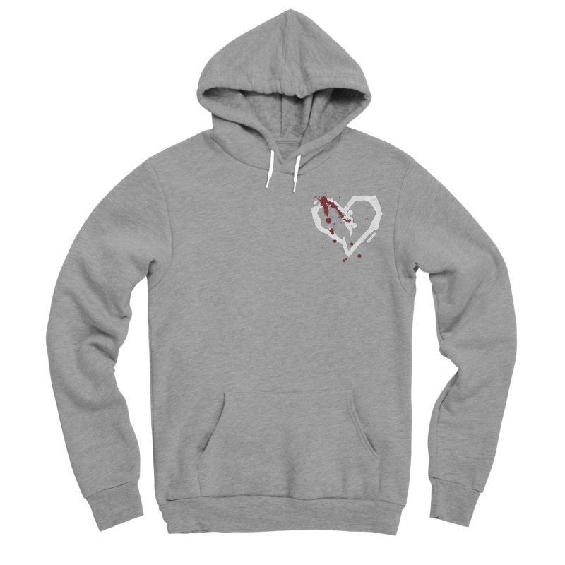 AbsolutePunk.net White Logo (Breast) Women's Sponge Fleece Pullover Hoody by Chorus.fm Shop