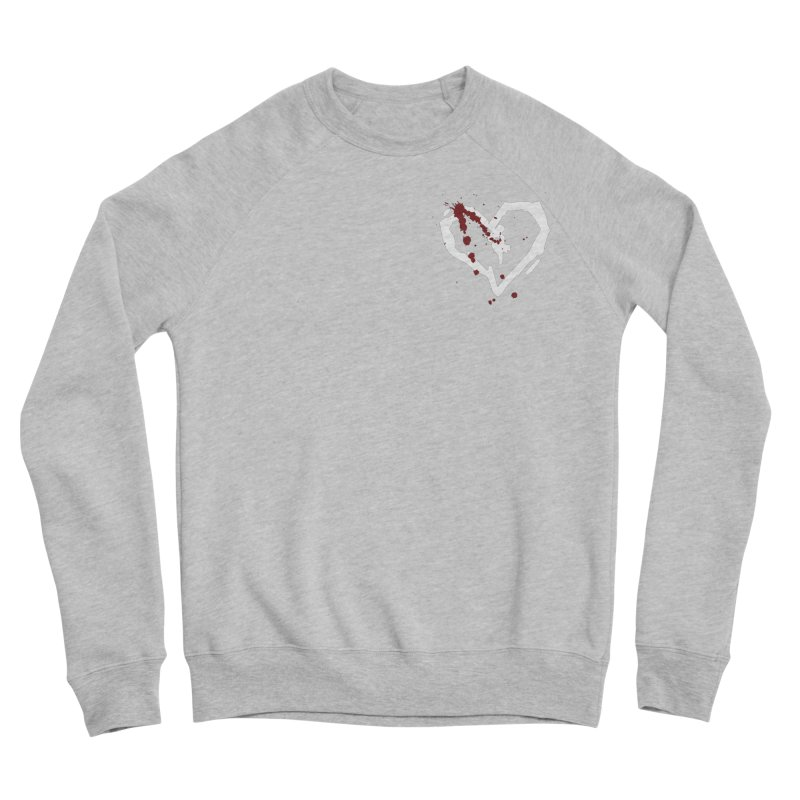AbsolutePunk.net White Logo (Breast) Women's Sponge Fleece Sweatshirt by Chorus.fm Shop