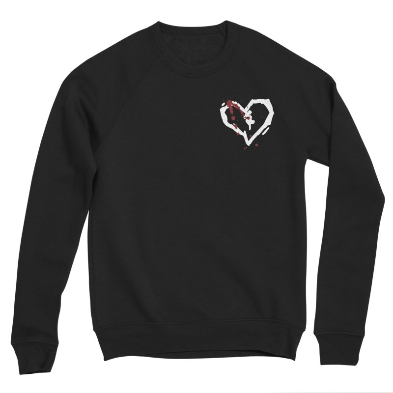 AbsolutePunk.net White Logo (Breast) Men's Sponge Fleece Sweatshirt by Chorus.fm Shop