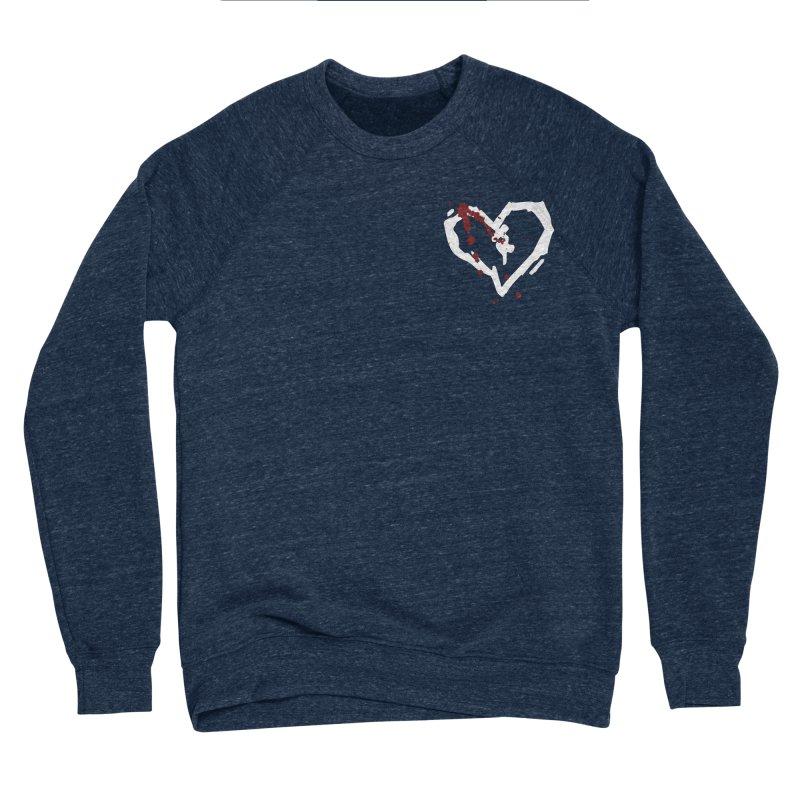AbsolutePunk.net White Logo (Breast) Women's Sponge Fleece Sweatshirt by Chorus.fm Shop