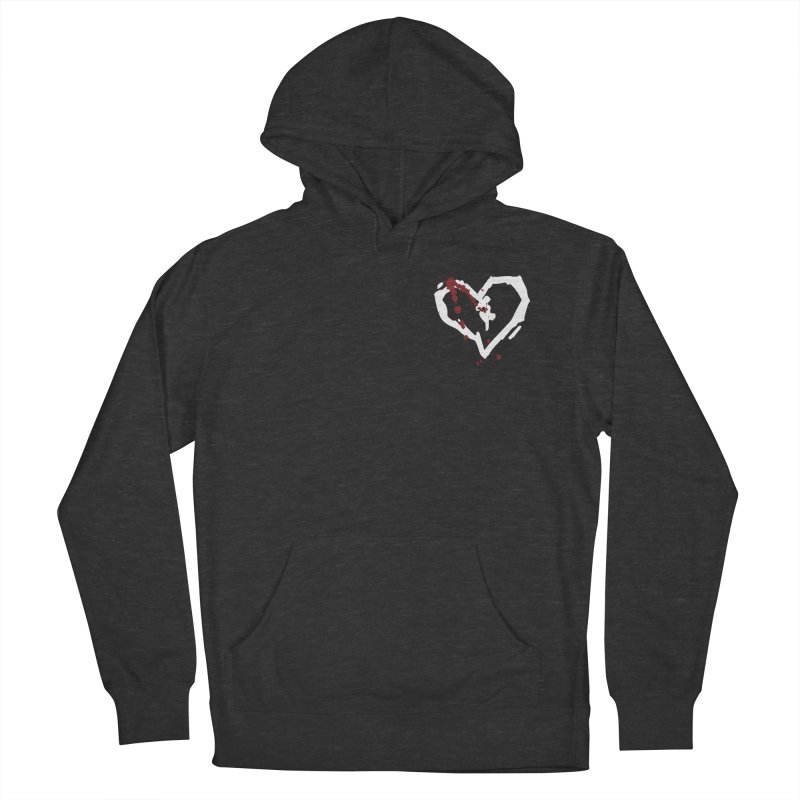 AbsolutePunk.net White Logo (Breast) Women's French Terry Pullover Hoody by Chorus.fm Shop