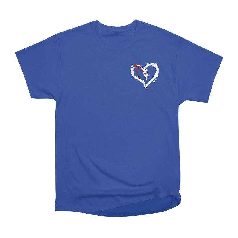 AbsolutePunk.net White Logo (Breast) Men's Heavyweight T-Shirt by Chorus.fm Shop