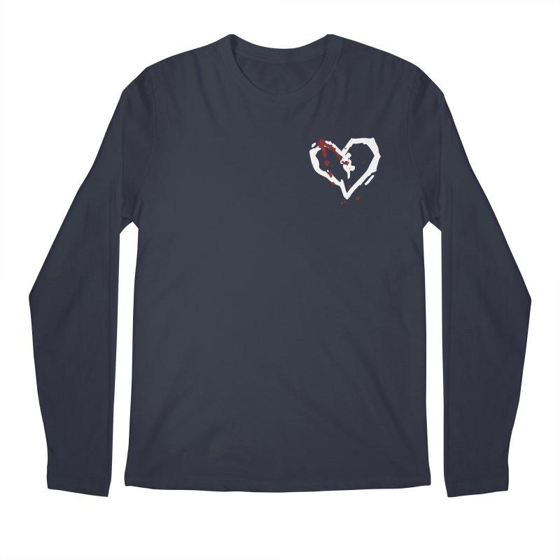 AbsolutePunk.net White Logo (Breast) Men's Regular Longsleeve T-Shirt by Chorus.fm Shop