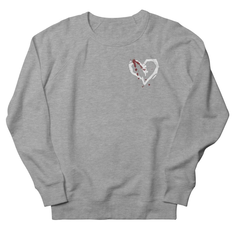 AbsolutePunk.net White Logo (Breast) Women's French Terry Sweatshirt by Chorus.fm Shop