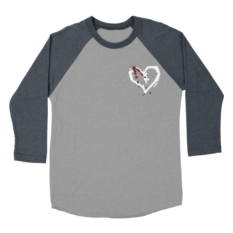 AbsolutePunk.net White Logo (Breast) Women's Baseball Triblend Longsleeve T-Shirt by Chorus.fm Shop
