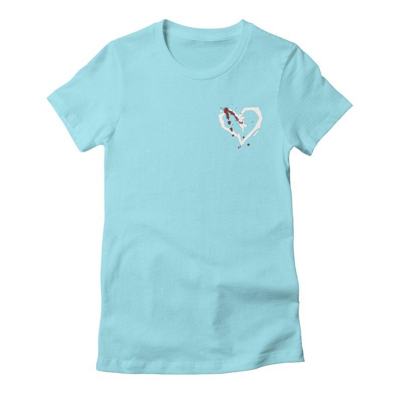 AbsolutePunk.net White Logo (Breast) Women's Fitted T-Shirt by Chorus.fm Shop