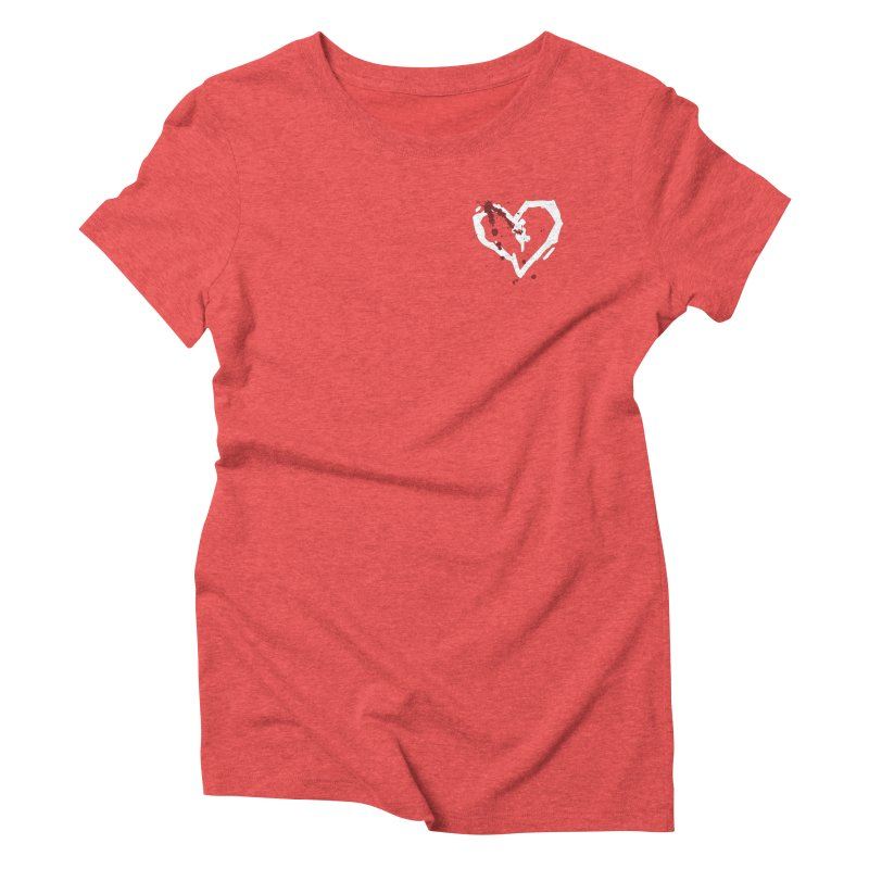 AbsolutePunk.net White Logo (Breast) Women's Triblend T-Shirt by Chorus.fm Shop