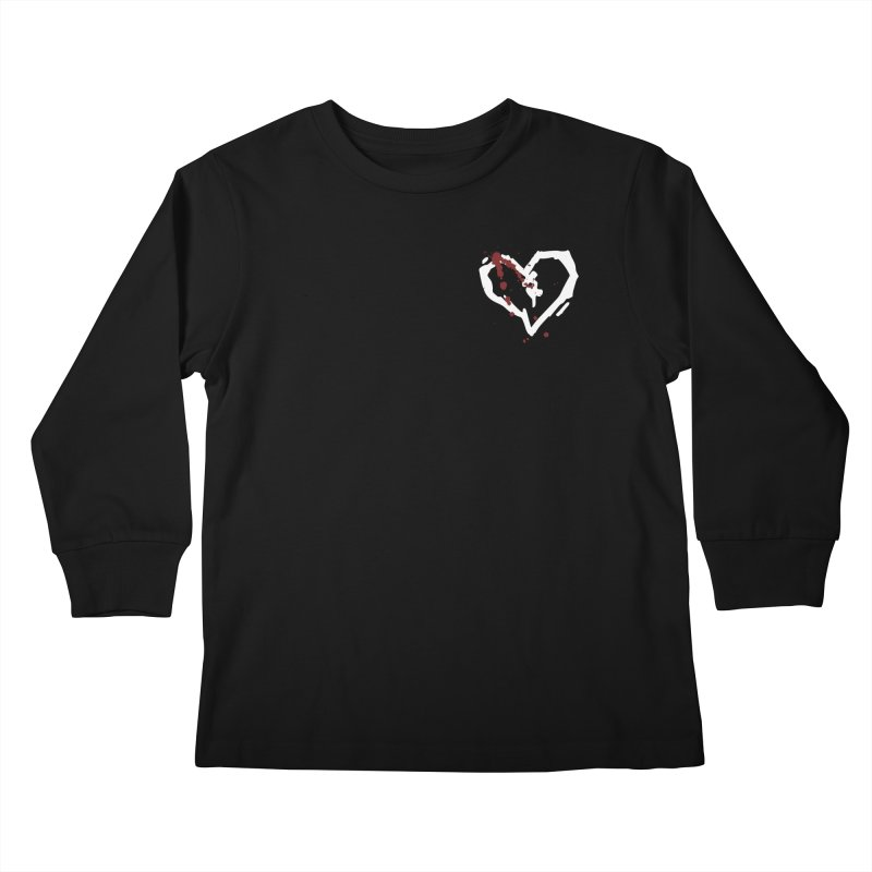 AbsolutePunk.net White Logo (Breast) Kids Longsleeve T-Shirt by Chorus.fm Shop