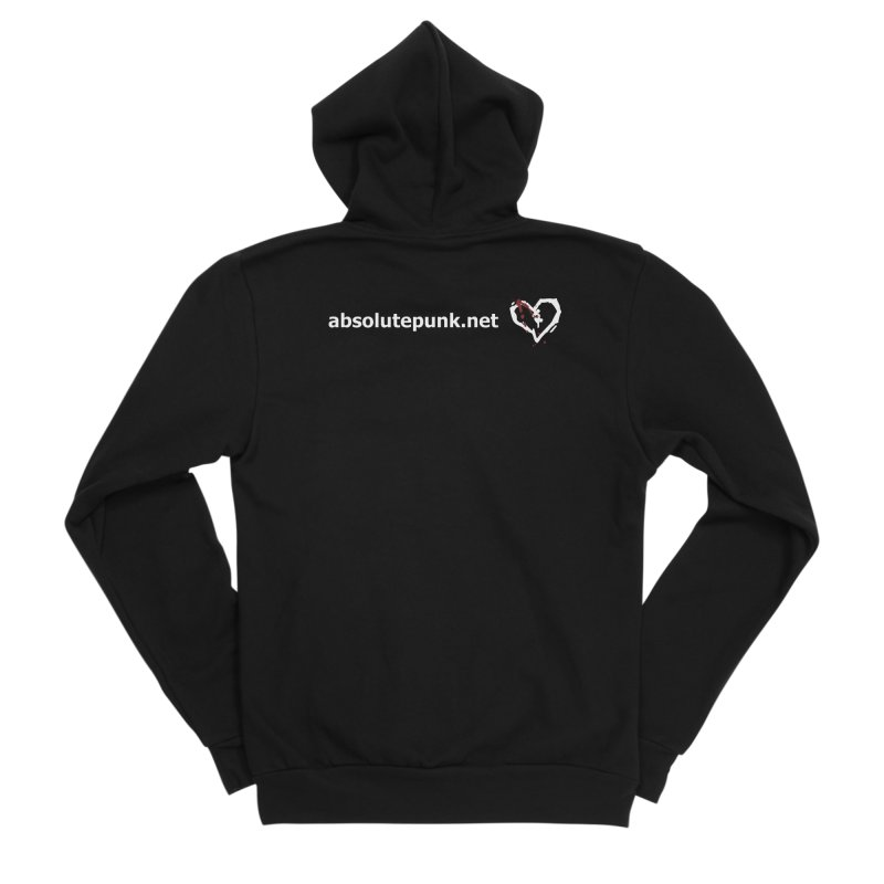 AbsolutePunk.net Text Logo (Centered) Men's Sponge Fleece Zip-Up Hoody by Chorus.fm Shop
