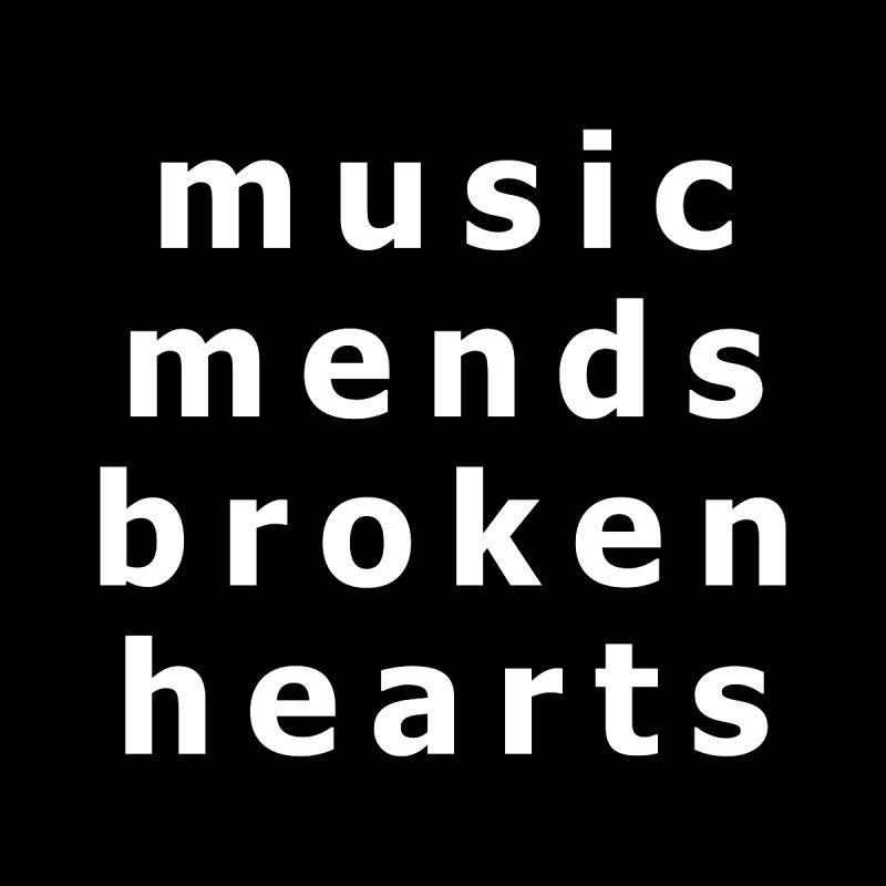 Music Mends Broken Hearts - AbsolutePunk.net Motto Men's Longsleeve T-Shirt by Chorus.fm Shop