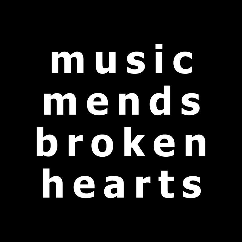 Music Mends Broken Hearts - AbsolutePunk.net Motto Men's T-Shirt by Chorus.fm Shop