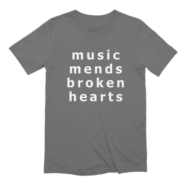 Music Mends Broken Hearts - AbsolutePunk.net Motto Men's Extra Soft T-Shirt by Chorus.fm Shop
