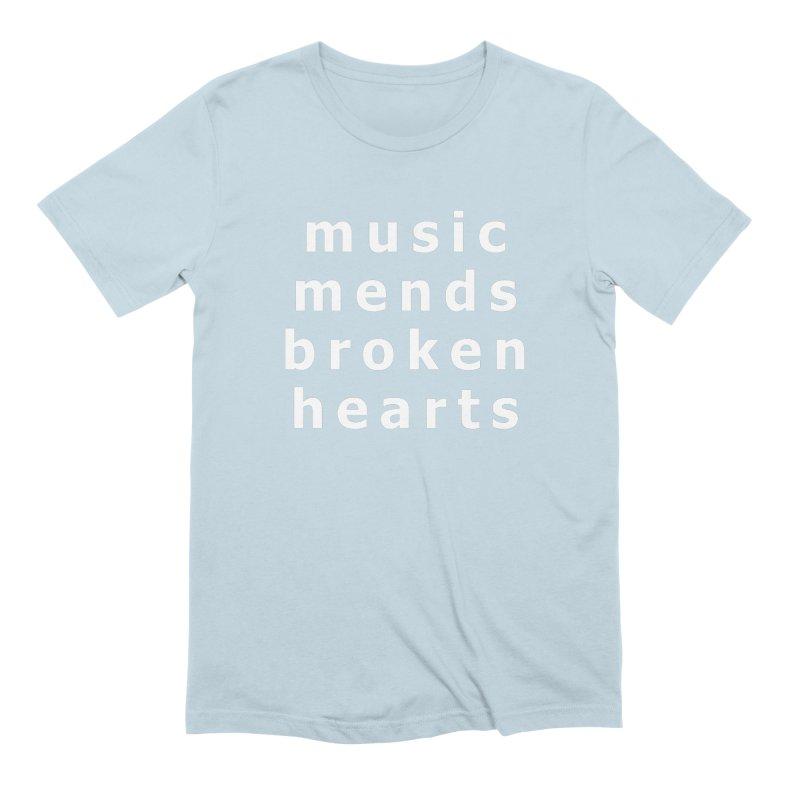Music Mends Broken Hearts - AbsolutePunk.net Motto Men's Extra Soft T-Shirt by Chorus.fm Shop