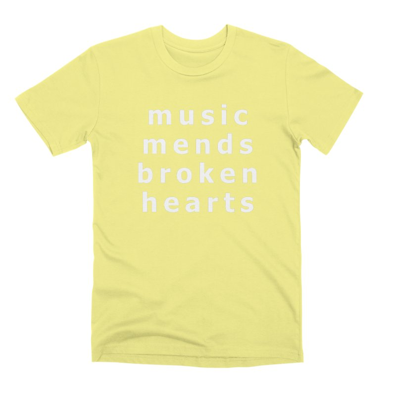 Music Mends Broken Hearts - AbsolutePunk.net Motto Men's Premium T-Shirt by Chorus.fm Shop