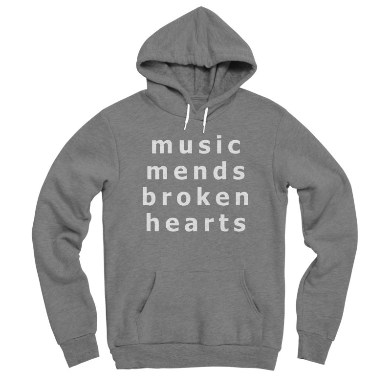 Music Mends Broken Hearts - AbsolutePunk.net Motto Women's Sponge Fleece Pullover Hoody by Chorus.fm Shop