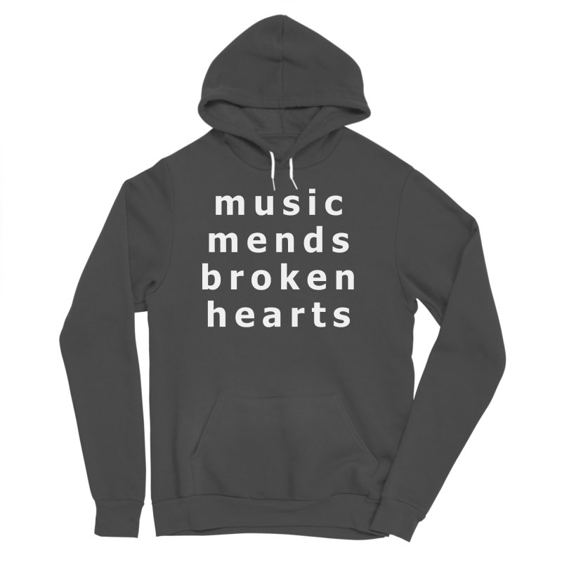 Music Mends Broken Hearts - AbsolutePunk.net Motto Men's Sponge Fleece Pullover Hoody by Chorus.fm Shop