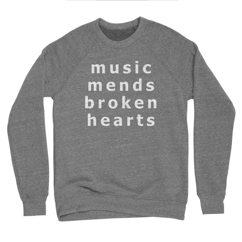 Music Mends Broken Hearts - AbsolutePunk.net Motto Men's Sponge Fleece Sweatshirt by Chorus.fm Shop