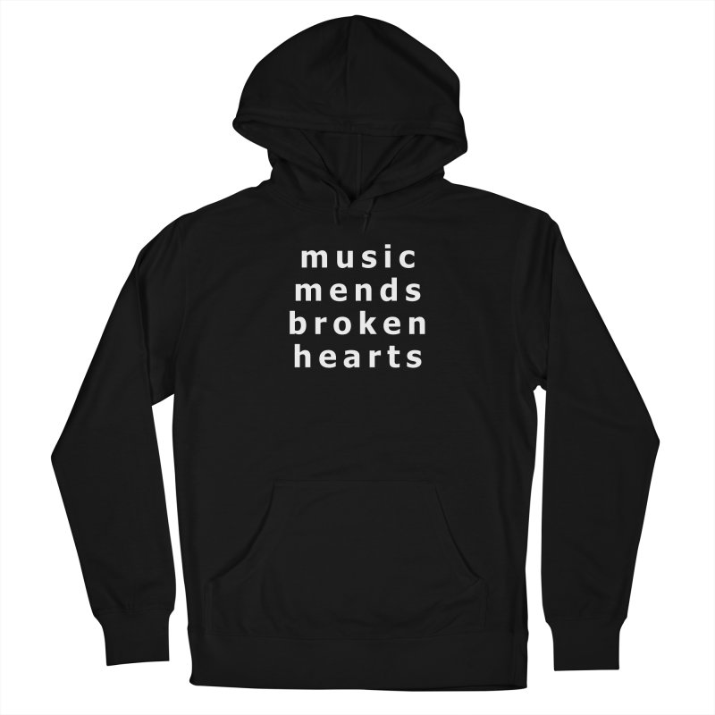 Music Mends Broken Hearts - AbsolutePunk.net Motto Men's French Terry Pullover Hoody by Chorus.fm Shop