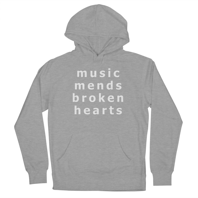 Music Mends Broken Hearts - AbsolutePunk.net Motto Women's French Terry Pullover Hoody by Chorus.fm Shop