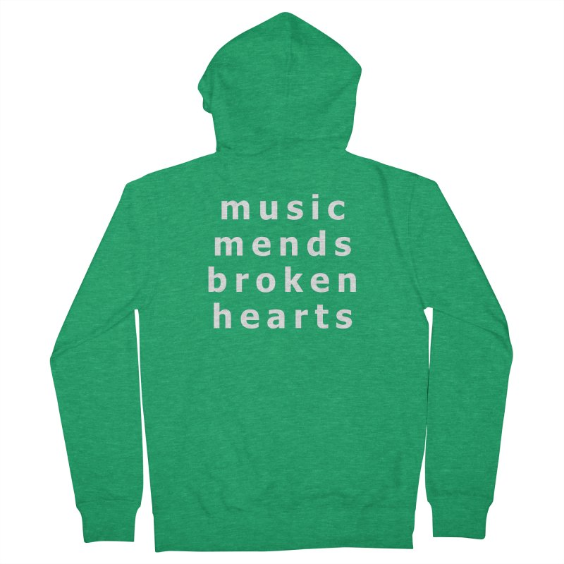 Music Mends Broken Hearts - AbsolutePunk.net Motto Men's French Terry Zip-Up Hoody by Chorus.fm Shop