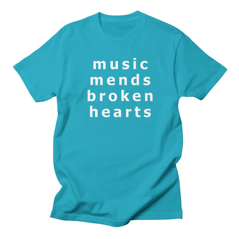 Music Mends Broken Hearts - AbsolutePunk.net Motto Men's Regular T-Shirt by Chorus.fm Shop