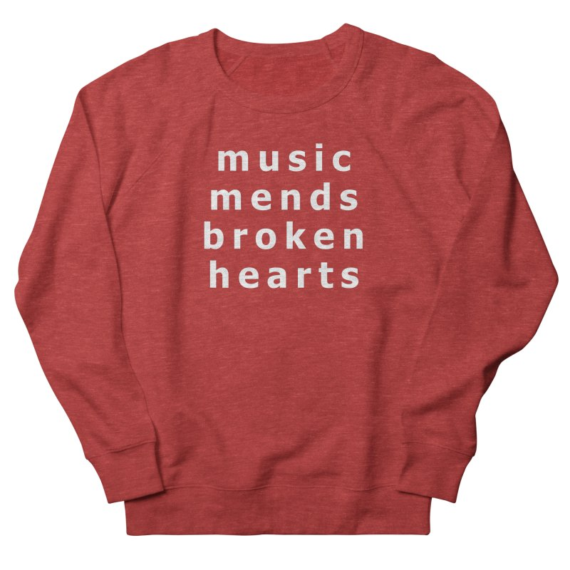 Music Mends Broken Hearts - AbsolutePunk.net Motto Men's French Terry Sweatshirt by Chorus.fm Shop