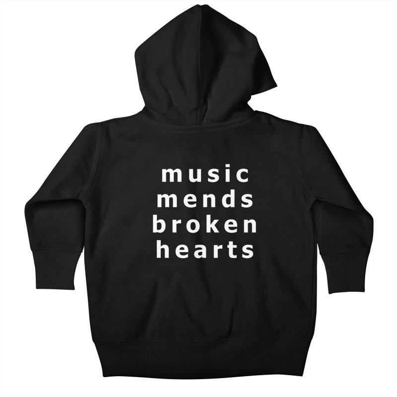 Music Mends Broken Hearts - AbsolutePunk.net Motto Kids Baby Zip-Up Hoody by Chorus.fm Shop