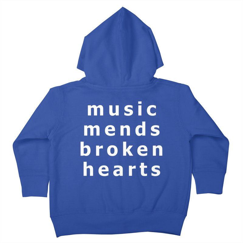 Music Mends Broken Hearts - AbsolutePunk.net Motto Kids Toddler Zip-Up Hoody by Chorus.fm Shop
