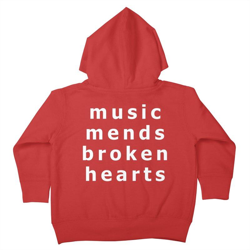 Music Mends Broken Hearts - AbsolutePunk.net Motto Kids Toddler Zip-Up Hoody by Chorus.fm Shop