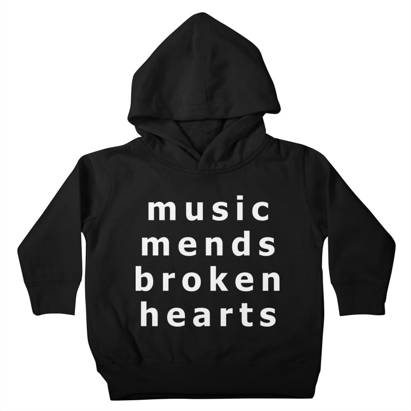 Music Mends Broken Hearts - AbsolutePunk.net Motto Kids Toddler Pullover Hoody by Chorus.fm Shop