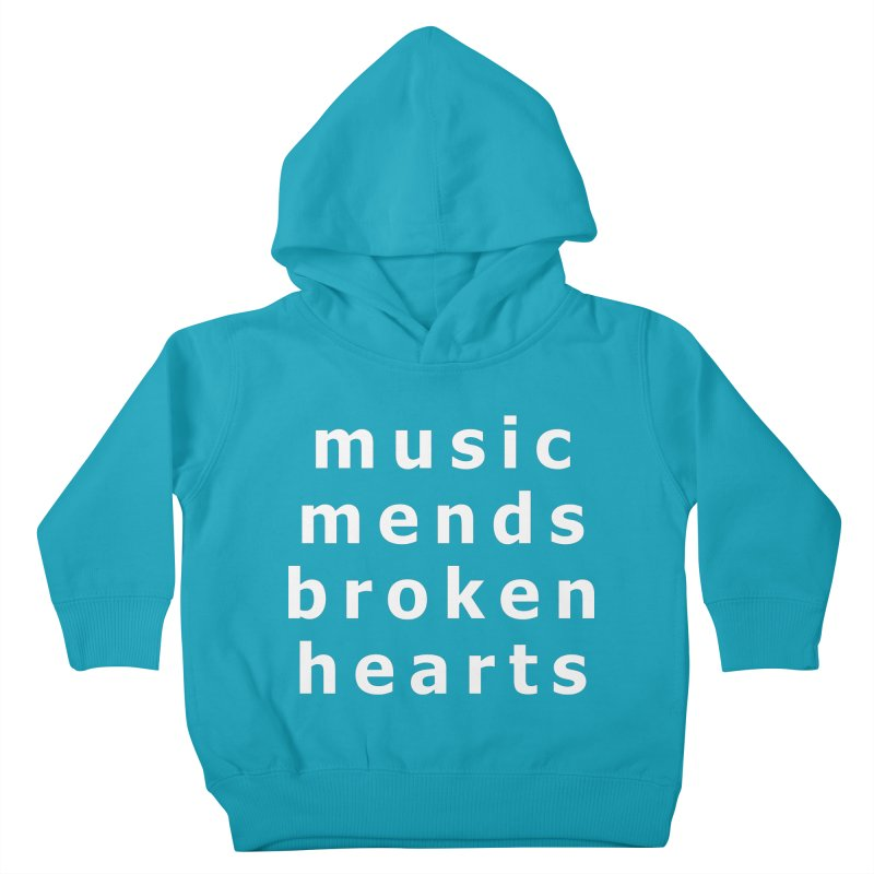 Music Mends Broken Hearts - AbsolutePunk.net Motto Kids Toddler Pullover Hoody by Chorus.fm Shop
