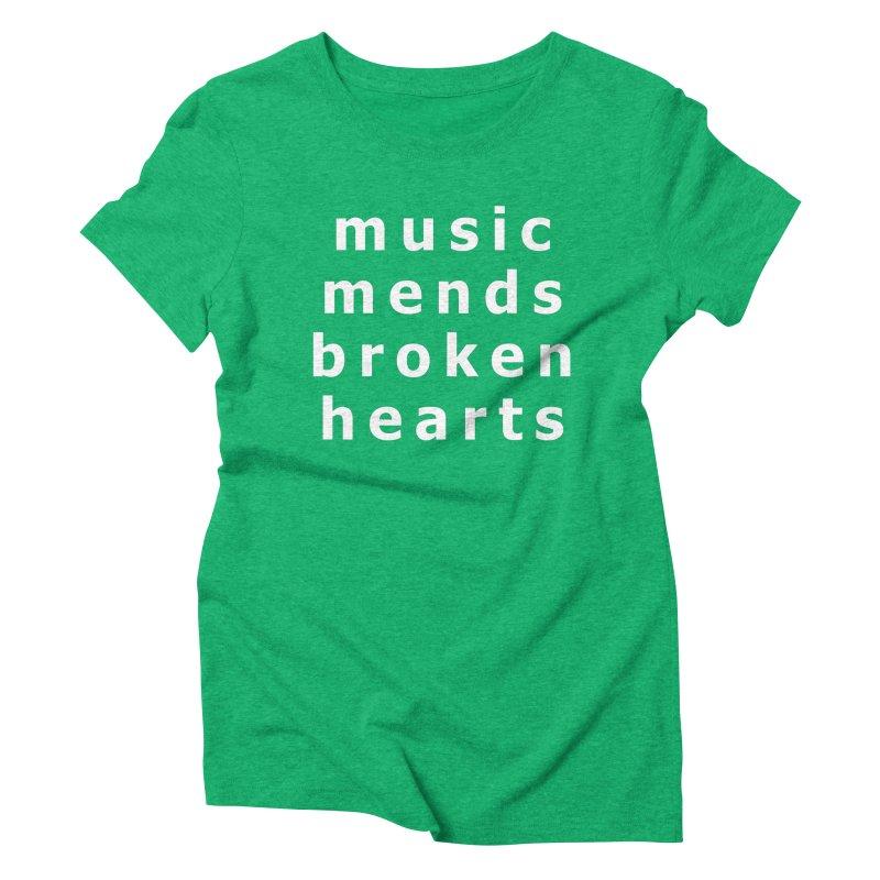 Music Mends Broken Hearts - AbsolutePunk.net Motto Women's Triblend T-Shirt by Chorus.fm Shop