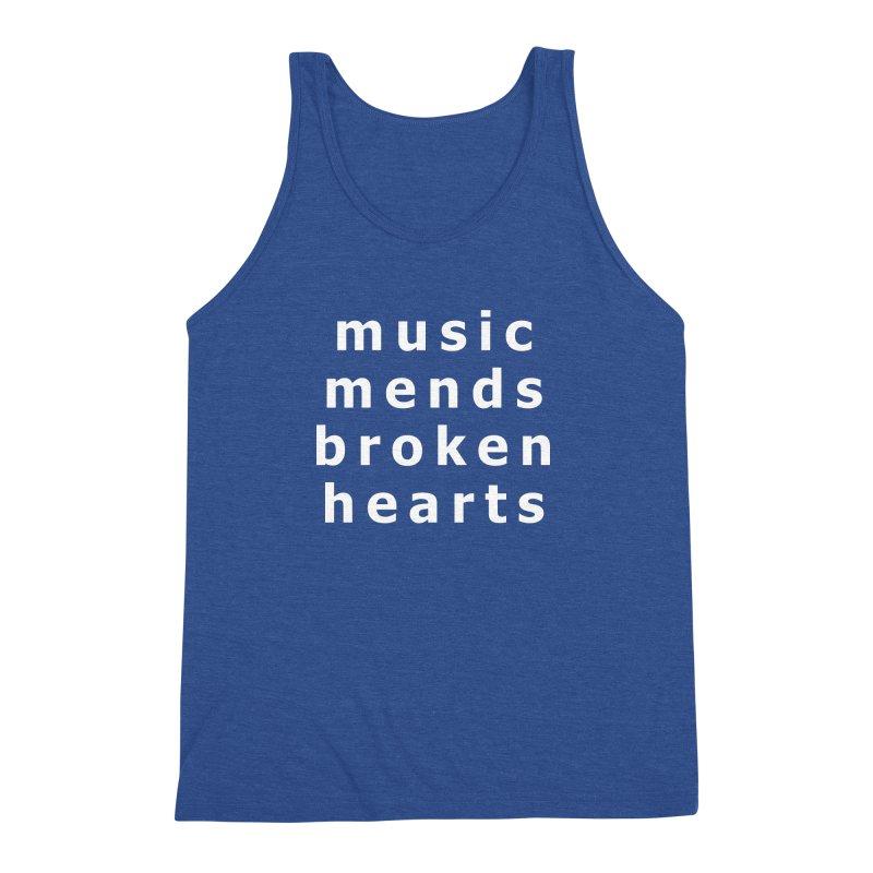 Music Mends Broken Hearts - AbsolutePunk.net Motto Men's Triblend Tank by Chorus.fm Shop