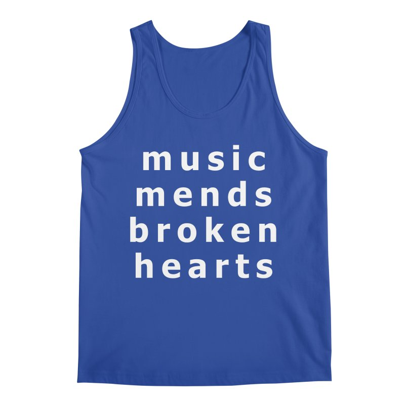 Music Mends Broken Hearts - AbsolutePunk.net Motto Men's Regular Tank by Chorus.fm Shop
