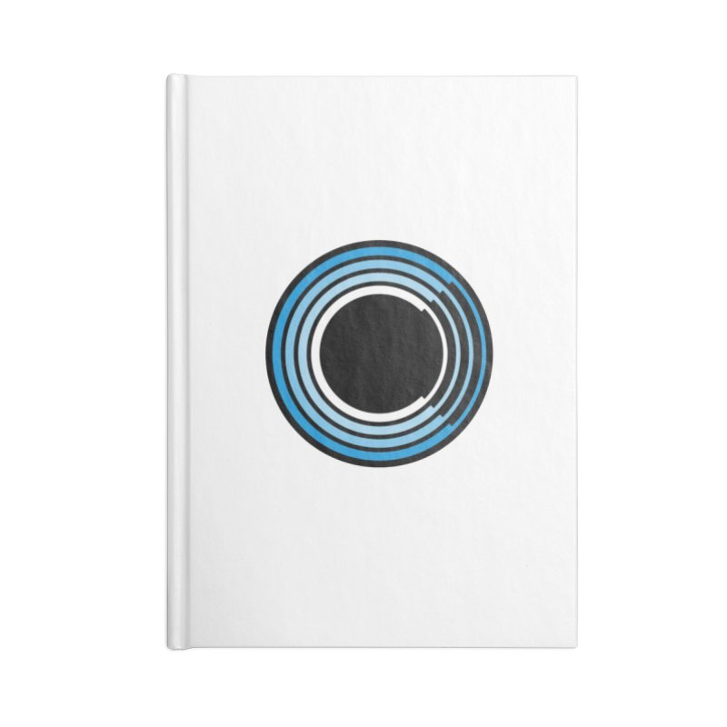 Chorus.fm Logo (White Products) Accessories Lined Journal Notebook by Chorus.fm Shop