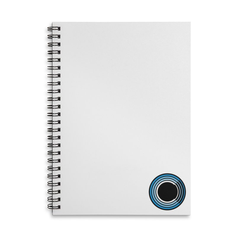 Chorus.fm Logo (White Products) Accessories Lined Spiral Notebook by Chorus.fm Shop