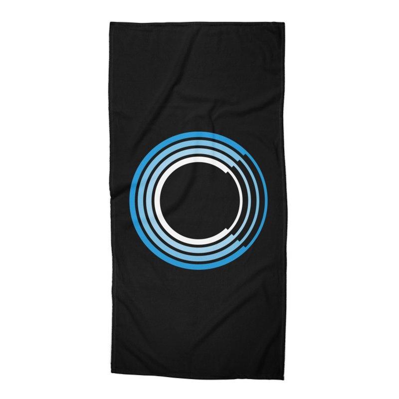 Chorus.fm Logo (Black Products) Accessories Beach Towel by Chorus.fm Shop