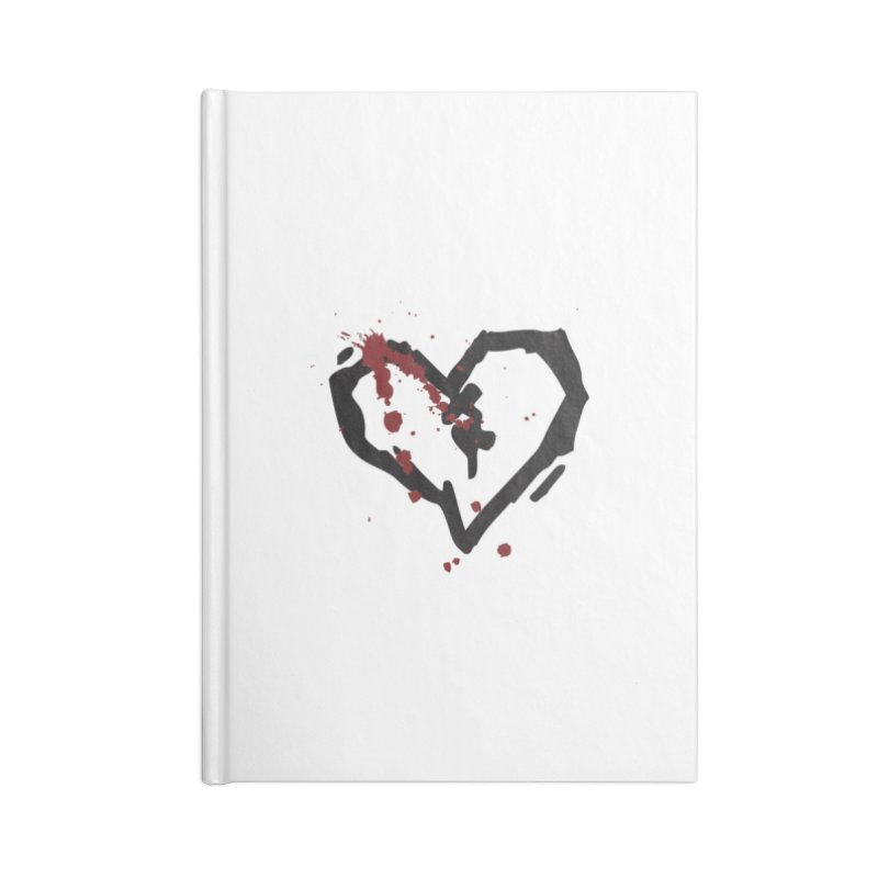 AbsolutePunk.net Logo (White Products) Accessories Blank Journal Notebook by Chorus.fm Shop