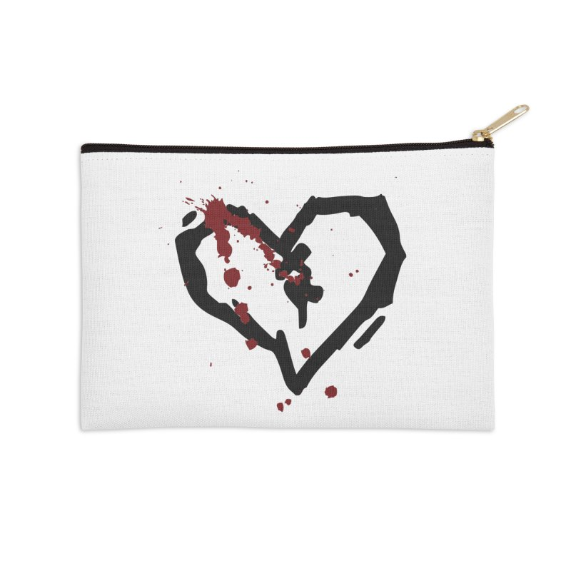 AbsolutePunk.net Logo (White Products) Accessories Zip Pouch by Chorus.fm Shop