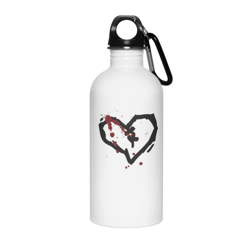AbsolutePunk.net Logo (White Products) Accessories Water Bottle by Chorus.fm Shop