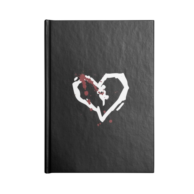 AbsolutePunk.net Logo (Black Products) Accessories Lined Journal Notebook by Chorus.fm Shop