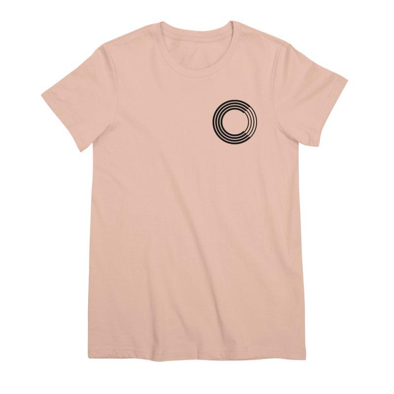 Chorus.fm Black Logo (Breast) Women's Premium T-Shirt by Chorus.fm Shop