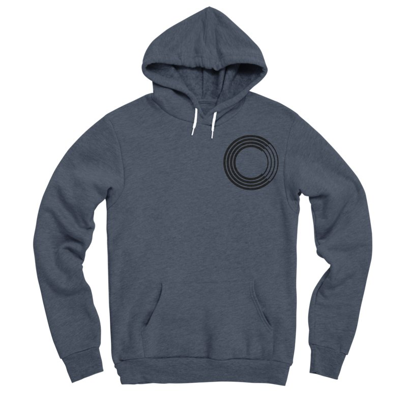 Chorus.fm Black Logo (Breast) Men's Sponge Fleece Pullover Hoody by Chorus.fm Shop