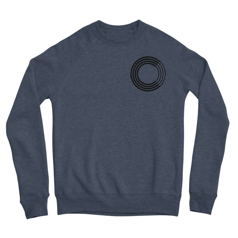 Chorus.fm Black Logo (Breast) Men's Sponge Fleece Sweatshirt by Chorus.fm Shop