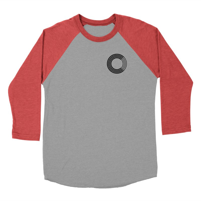 Chorus.fm Black Logo (Breast) Women's Baseball Triblend Longsleeve T-Shirt by Chorus.fm Shop