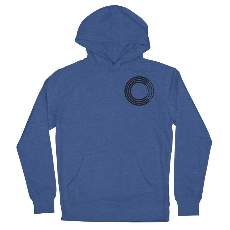 Chorus.fm Black Logo (Breast) in Men's French Terry Pullover Hoody Heather Royal by Chorus.fm Shop