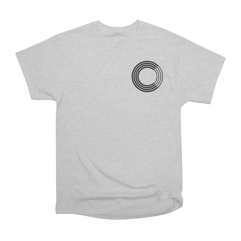 Chorus.fm Black Logo (Breast) Women's Heavyweight Unisex T-Shirt by Chorus.fm Shop