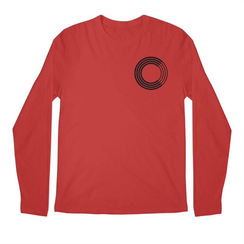 Chorus.fm Black Logo (Breast) Men's Regular Longsleeve T-Shirt by Chorus.fm Shop