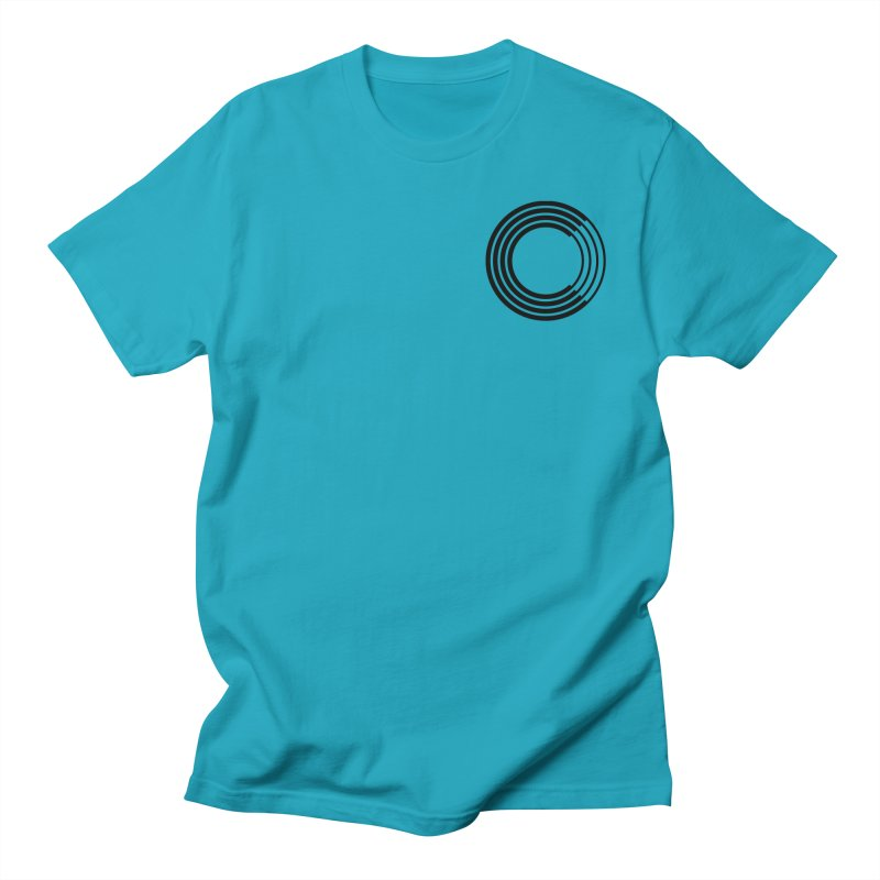 Chorus.fm Black Logo (Breast) Men's Regular T-Shirt by Chorus.fm Shop