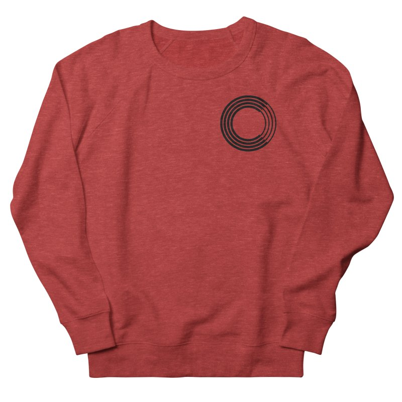 Chorus.fm Black Logo (Breast) Men's French Terry Sweatshirt by Chorus.fm Shop